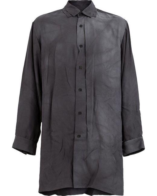 Yohji Yamamoto - Gray Long Length Shirt for Men - Lyst