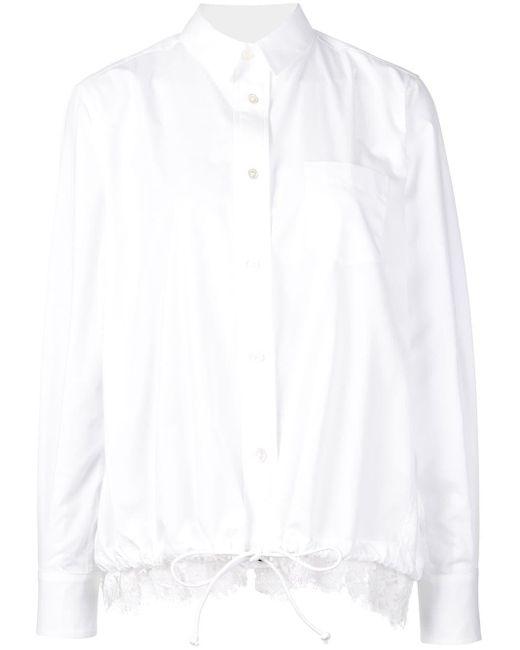 Sacai ドローストリング シャツ White
