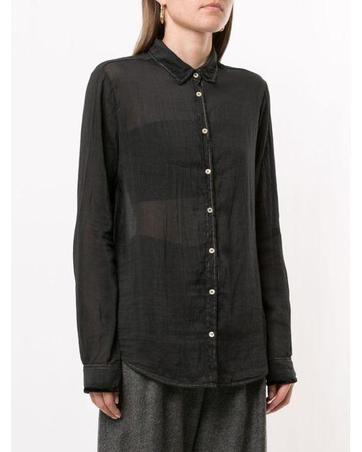 Forte Forte Black Semi-sheer Button Shirt