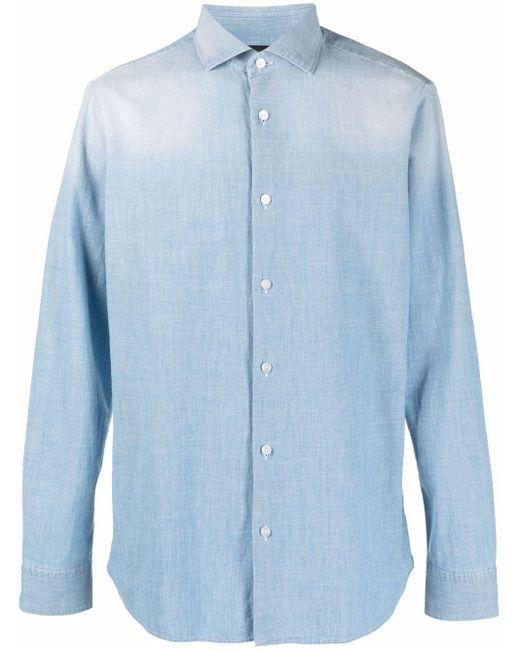 メンズ Z Zegna ボタン シャツ Blue