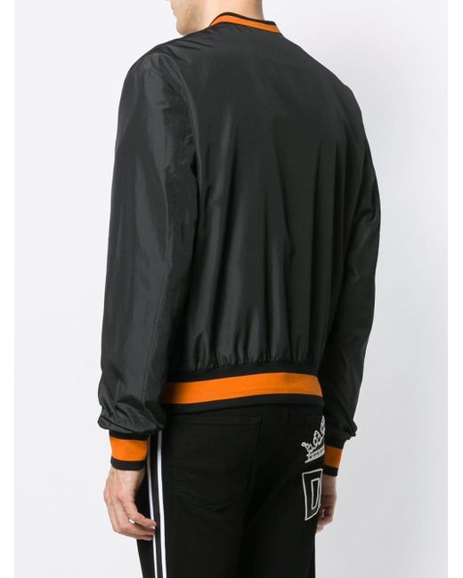 Куртка-бомбер С Логотипом Dolce & Gabbana для него, цвет: Black