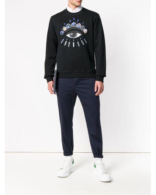 50dae9aa KENZO Indonesian Flower Eye Sweatshirt in Black for Men - Lyst