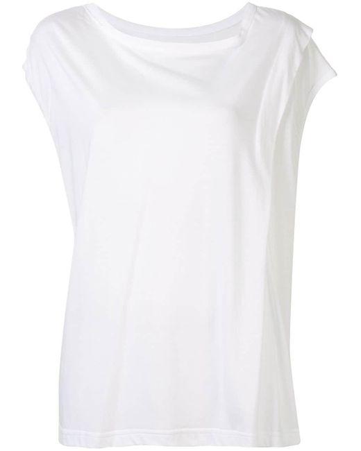 Y's Yohji Yamamoto バイカラー Tシャツワンピース White