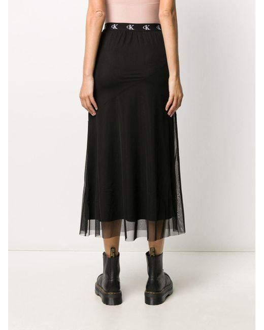 Юбка Миди Calvin Klein, цвет: Black