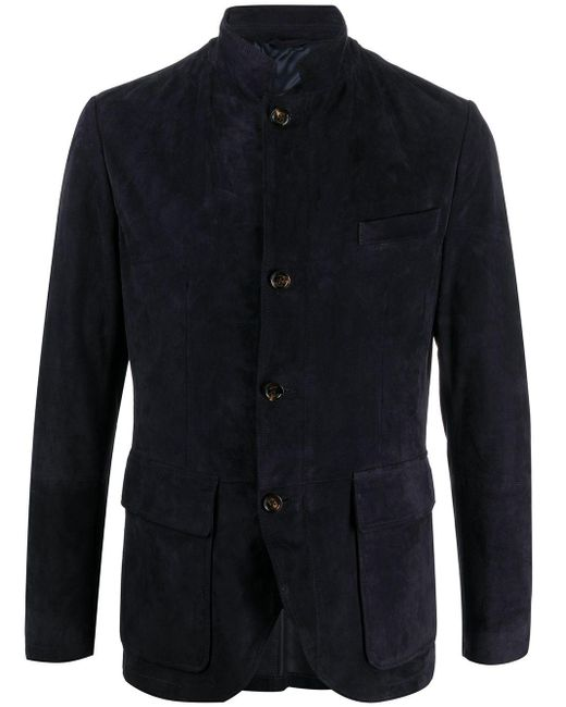 メンズ Eleventy スリムフィット ジャケット Blue