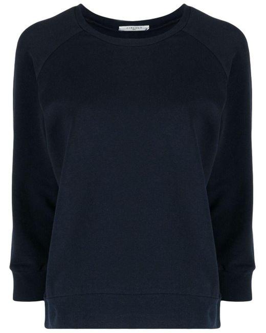 Circolo 1901 クロップドスリーブ スウェットシャツ Blue
