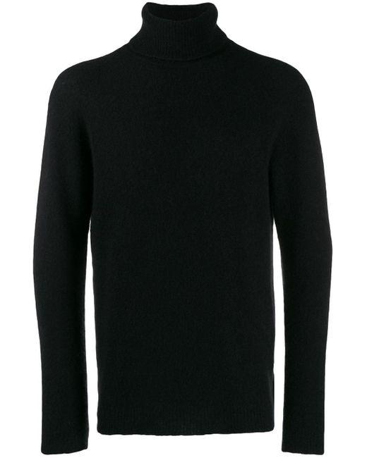 Pull ajusté à col roulé Roberto Collina pour homme en coloris Black