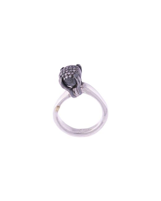 Серебряное Кольцо Yoko С Бриллиантами Rosa Maria, цвет: Metallic