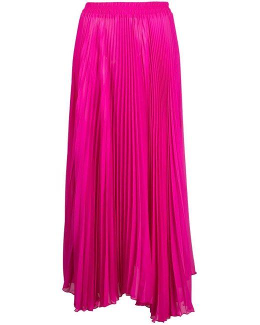 Styland プリーツ マキシスカート Pink