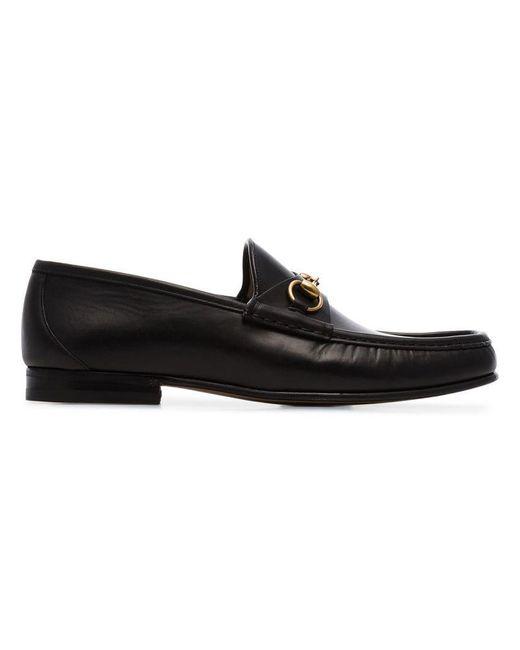 2697257a5c8 Lyst - Gucci Black 1953 Horesbit Leather Loafers in Black for Men