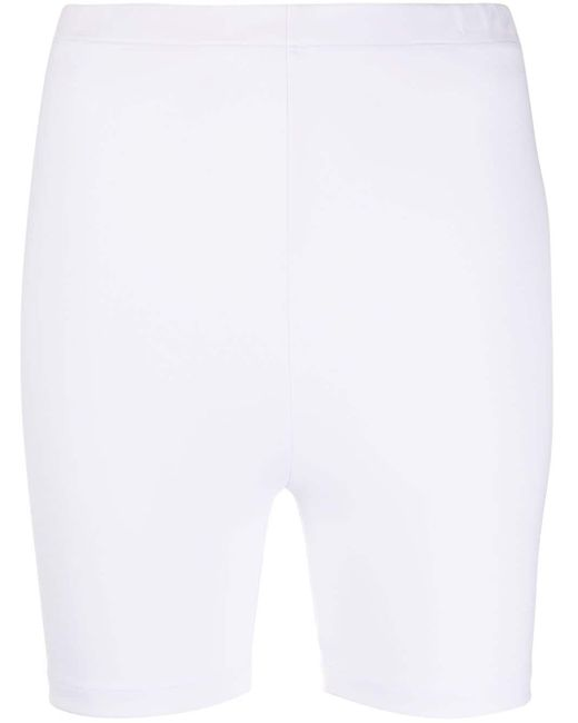 Styland White Stretch-fit Cycling Shorts