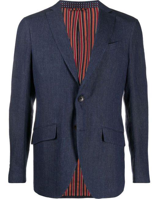 Однобортный Пиджак Etro для него, цвет: Blue