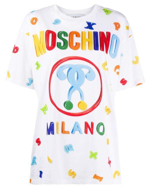 Moschino プリント Tシャツ White