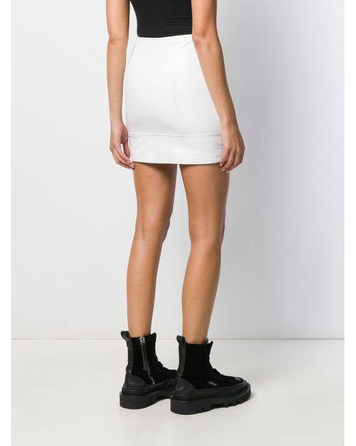 Manokhi バックル バイカースカート White