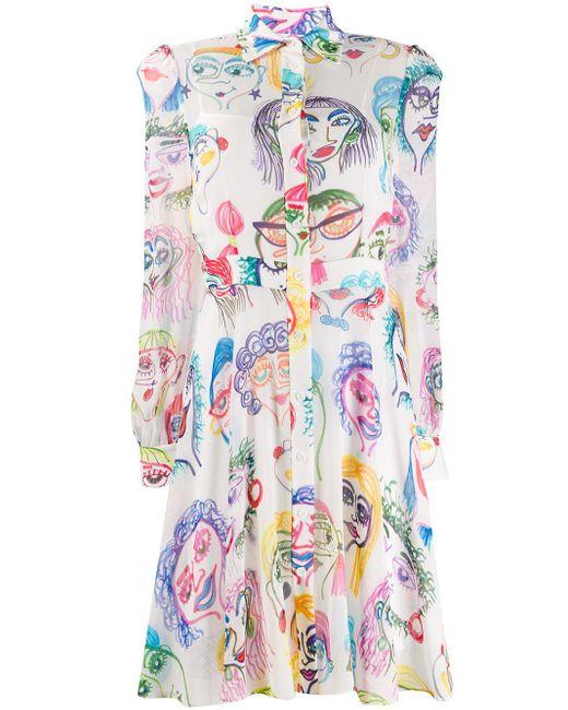 Moschino プリントドレス White