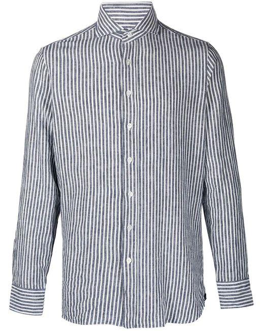 Полосатая Рубашка С Длинными Рукавами Lardini для него, цвет: Blue