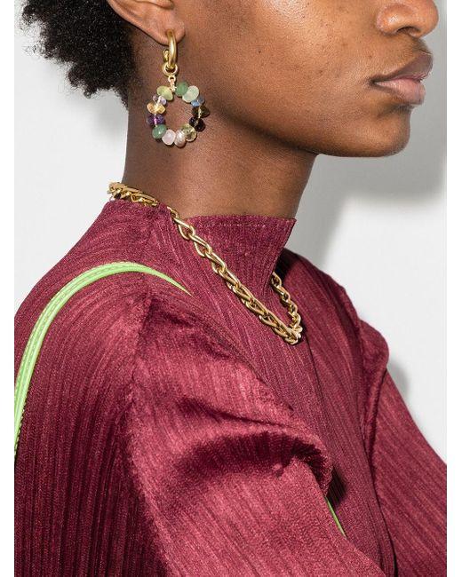 Серьги-кольца С Камнями Brinker & Eliza, цвет: Metallic