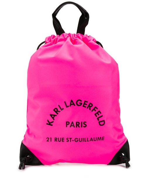 Karl Lagerfeld Rue St Guillaume バックパック Pink
