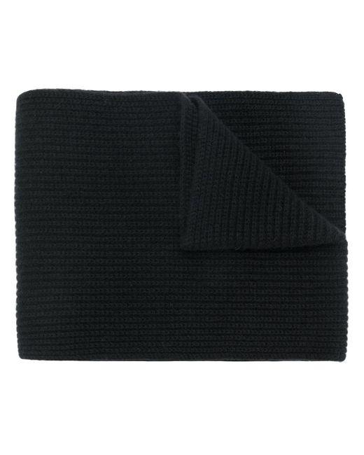 Шарф В Рубчик Крупной Вязки N.Peal Cashmere для него, цвет: Black