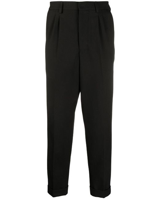 Pantaloni sartoriali crop di AMI in Black da Uomo