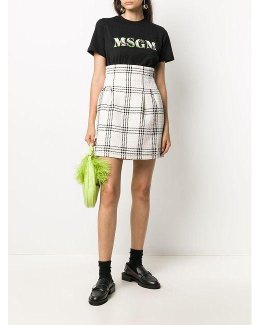 MSGM ツイード ミニスカート Multicolor