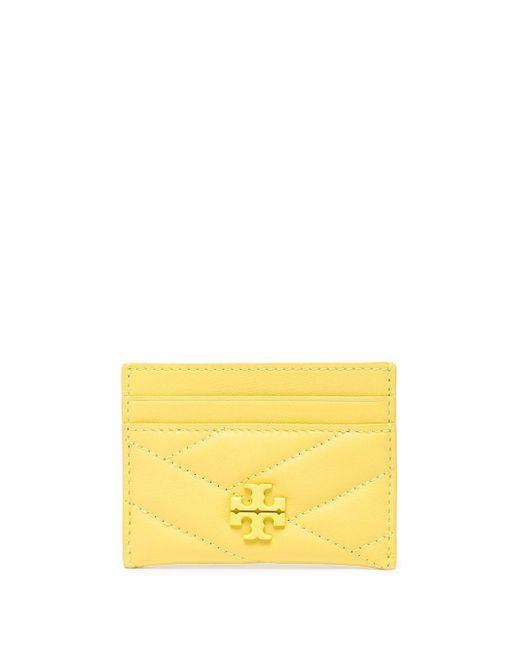 Porte-cartes Kira matelassé Tory Burch en coloris Yellow