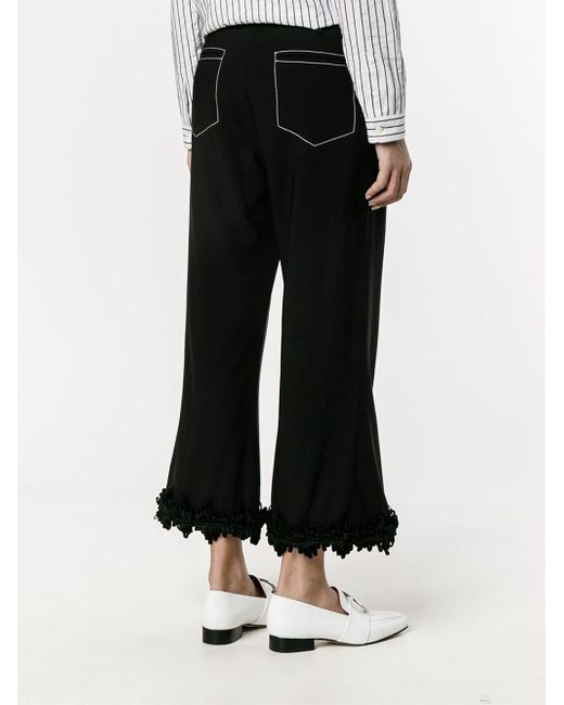 fringed flared trousers - Black Creatures of the Wind rwZt3