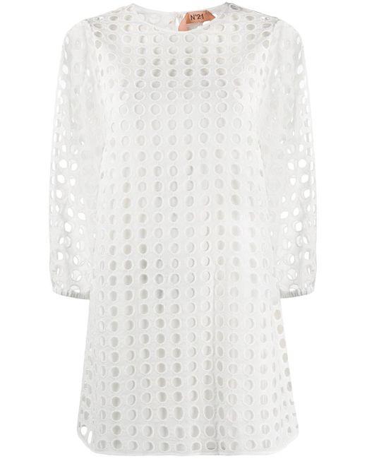 N°21 シフトドレス White