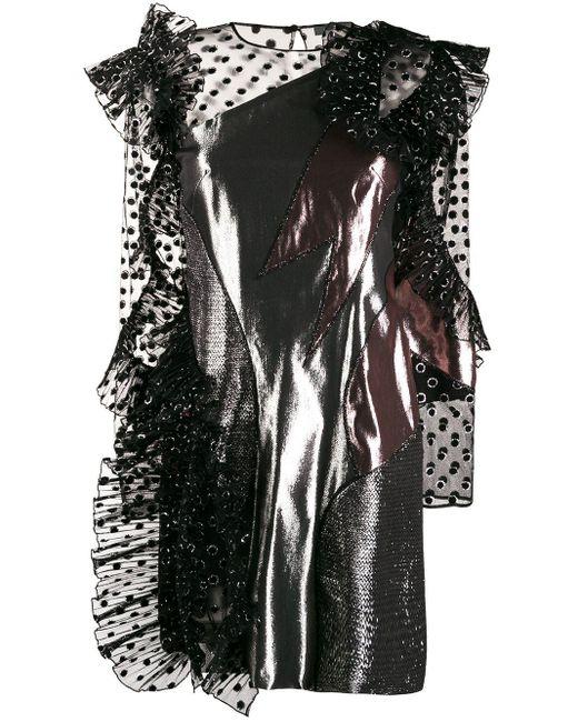 Alberta Ferretti メタリックプリント ドレス Metallic