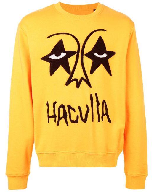 メンズ Haculla Star Eyes スウェットシャツ Yellow