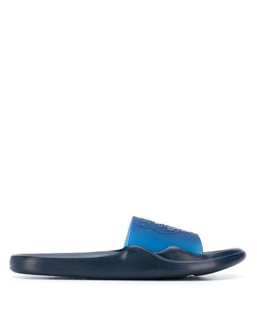 メンズ KENZO ロゴ サンダル Blue