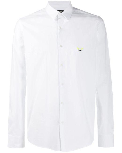 メンズ Fendi バッグバグズ シャツ White