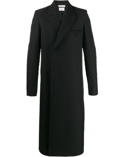 メンズ Bottega Veneta リブスリーブ テーラードコート Black