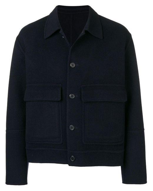 メンズ AMI パッチポケット ジャケット Black