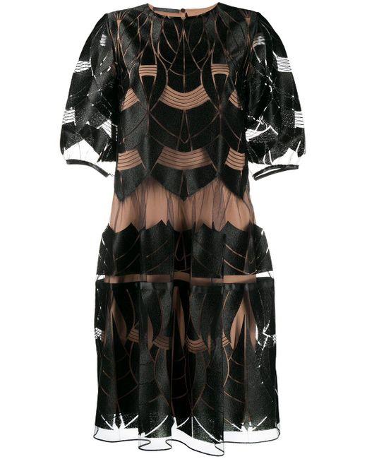 Alberta Ferretti レイヤード ドレス Black