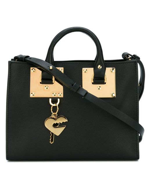 Sophie Hulme | Black Small 'albion' Square Tote | Lyst