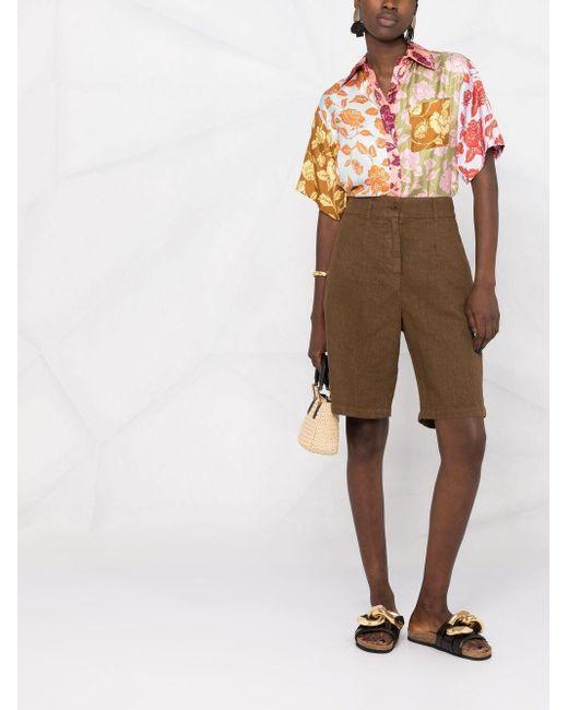 Aspesi Brown Shorts mit langem Schnitt