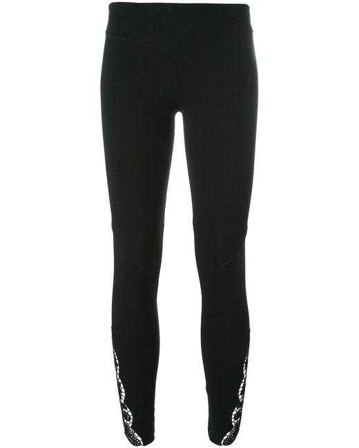 Sàpopa | Black Lace Detail Leggings | Lyst