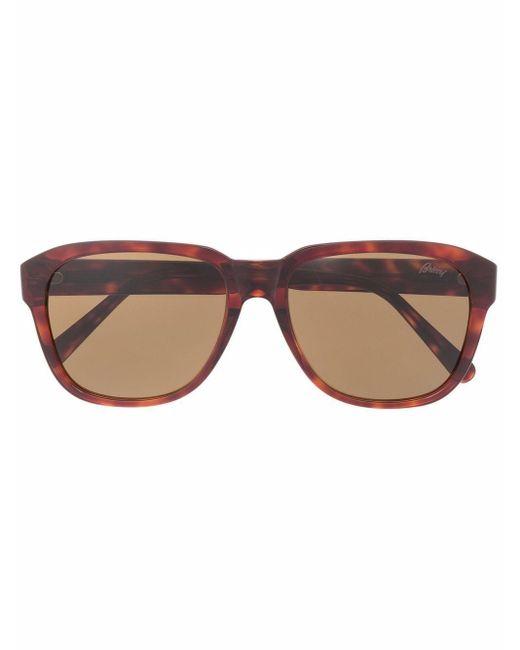 Солнцезащитные Очки В Квадратной Оправе Brioni, цвет: Brown