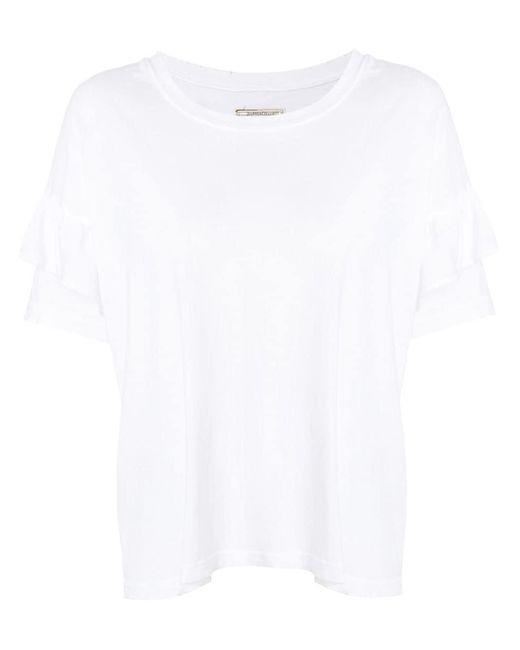 Current/Elliott フリルtシャツ White