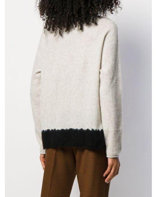 Suzusan バイカラー カシミアセーター Multicolor