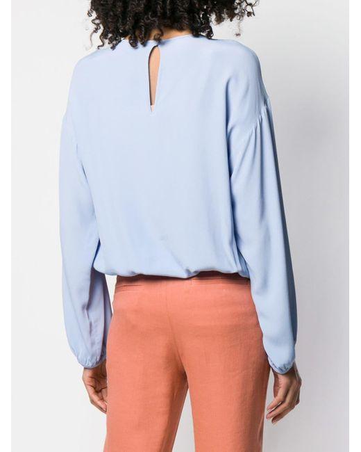 Blouse à design drapé devant L'Autre Chose en coloris Blue