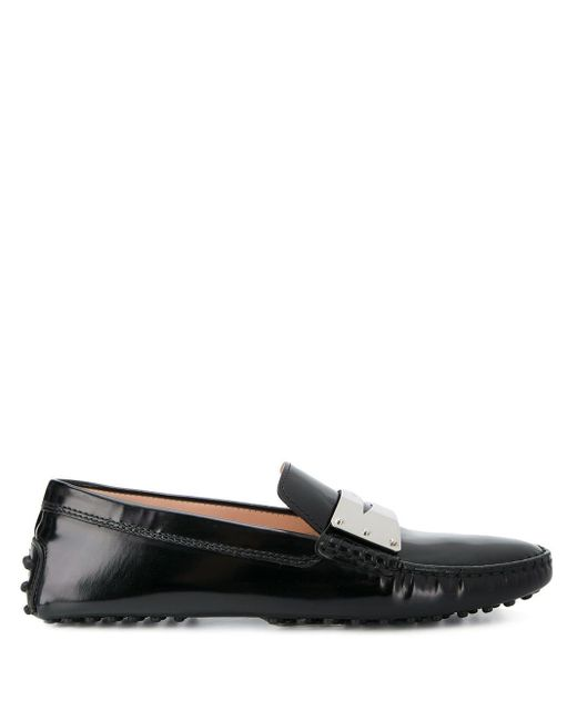 Tod's Gommino Driving Loafers in het Black