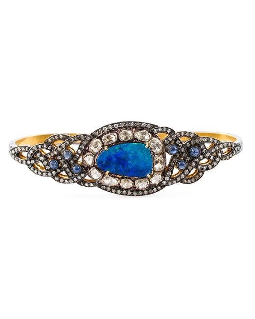 Gemco Blue Diamond, Opal & Sapphire Hand Bracelet