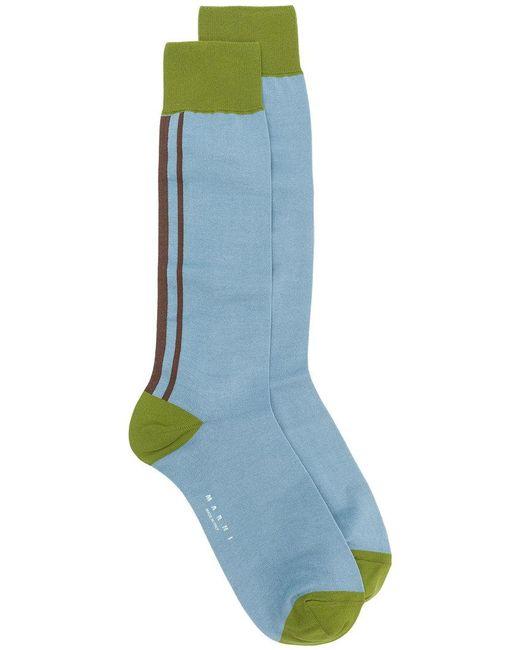 Marni - Blue Elongated Design Socks for Men - Lyst