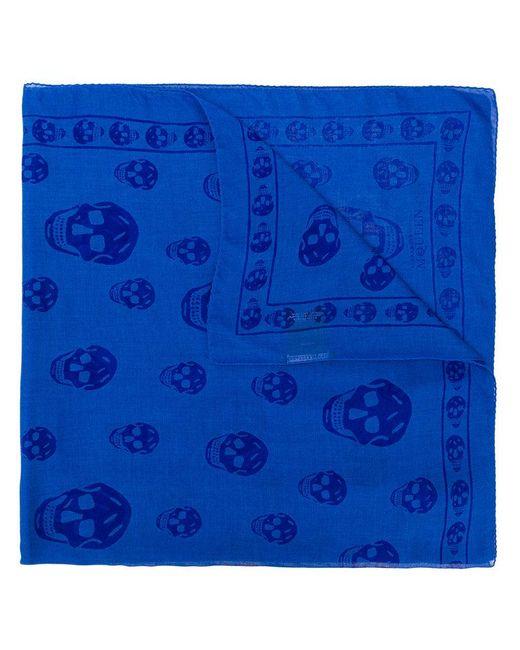 Alexander McQueen - Blue Skull Print Scarf for Men - Lyst