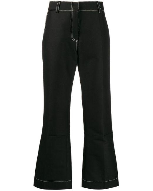 Marni Black Pencil-cut Flared Trousers