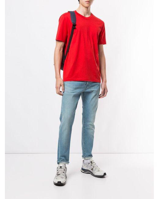 メンズ Calvin Klein ロゴ Tシャツ Red