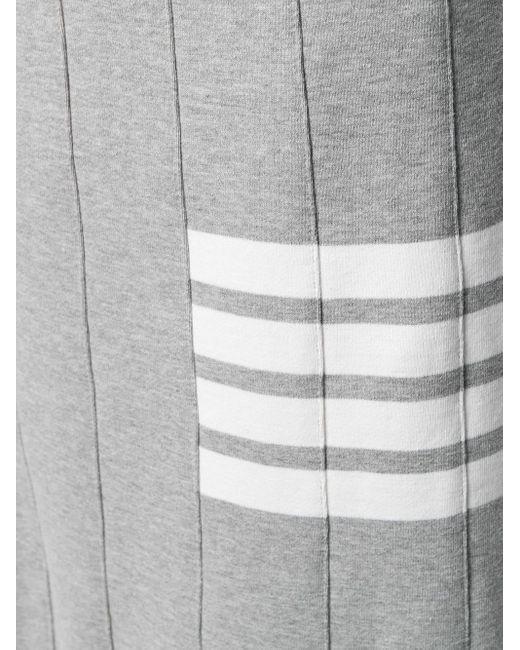 Юбка С Эффектом Тромплей И Полосками 4-bar Thom Browne, цвет: Gray