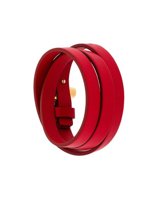 Tom Ford | Red Buckle Wrap Bracelet | Lyst